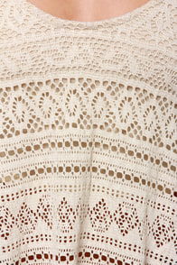 Fest Friends Cream Crochet Crop Top at Lulus.com!