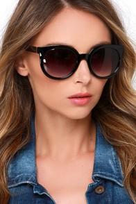 Classy Black Sunglasses at Lulus.com!