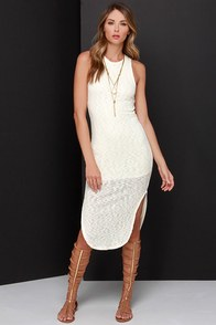 California Soul Cream Midi Dress at Lulus.com!