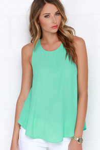 Call on Me Mint Green Tank Top at Lulus.com!