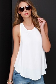 Call on Me Ivory Tank Top at Lulus.com!