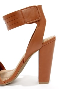 Bamboo Senza 06 Chestnut Ankle Strap Heels at Lulus.com!