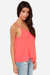 Go With the Flow Neon Coral Tank Top at Lulus.com!