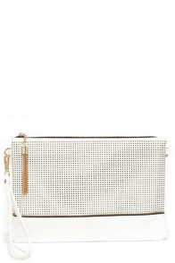 Sooner or Laser Ivory Clutch at Lulus.com!