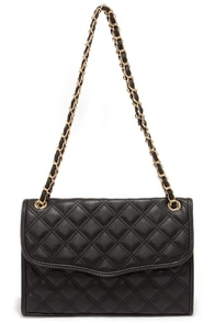 Fashion Forces Black Quilted Purse at Lulus.com!