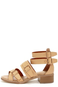 Wanted Kingdom Natural Strappy Sandals
