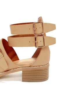 Wanted Kingdom Natural Strappy Sandals at Lulus.com!