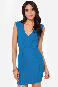 Seams Come True Blue Dress at Lulus.com!
