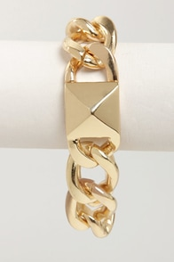 What a Stud Gold Chain Bracelet at Lulus.com!