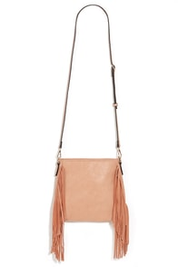 For the Frill of It Peach Fringe Purse at Lulus.com!