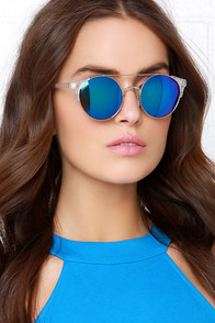 Lunar Clear Mirrored Sunglasses at Lulus.com!