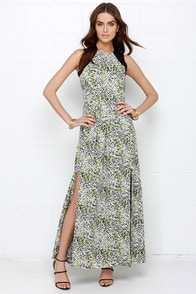 Sugarhill Boutique Lottie Black Print Maxi Dress at Lulus.com!