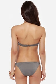 Billabong Lustre Tan Bustier Bikini at Lulus.com!
