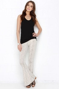 Others Follow On Point Cream Print Pants at Lulus.com!