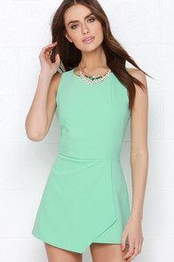 Everlasting Now Mint Green Romper at Lulus.com!