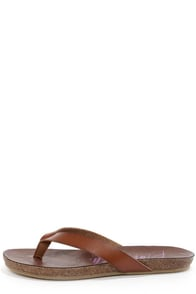 Blowfish Gisele Whiskey Brown Thong Sandals at Lulus.com!