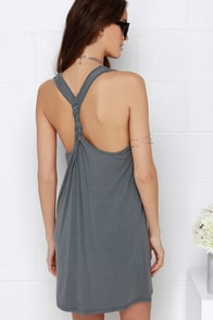 Others Follow Coastal Slate Blue Racerback Dress at Lulus.com!