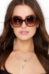Ray of Light Brown Tortoise Sunglasses at Lulus.com!