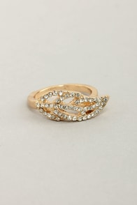 I Be-leaf in You Gold Rhinestone Ring at Lulus.com!