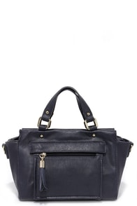 It's a Deal Navy Blue Handbag at Lulus.com!