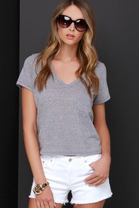 Una-frayed White Distressed Cutoff Shorts at Lulus.com!