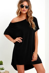 Method to My Grandness Black Shirt Dress at Lulus.com!