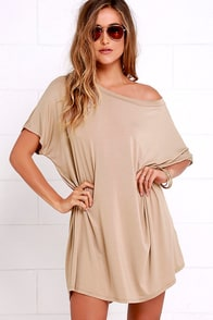 Method to My Grandness Taupe Shirt Dress at Lulus.com!