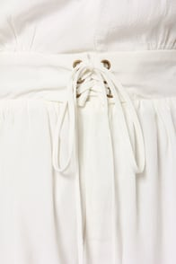 Mink Pink Follow Me to Heaven Ivory Romper at Lulus.com!