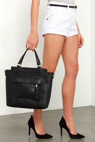 Shooting Stars Black Tote at Lulus.com!