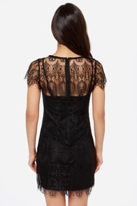 Mink Pink Surrender Black Lace Dress at Lulus.com!