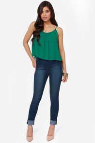An Open Mind Green Top at Lulus.com!