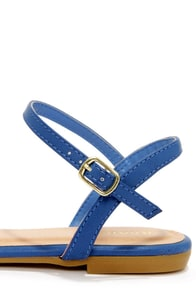 Bamboo Lynna 78 Blue Sandals at Lulus.com!