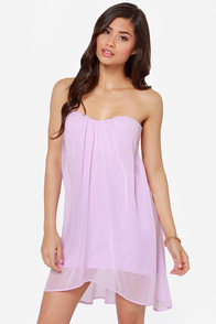LULUS Exclusive Breathtaking The Cake Strapless Lavender Dress at Lulus.com!