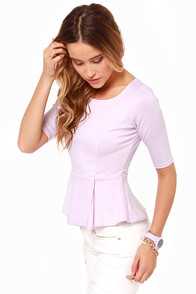 LULUS Exclusive Perk Up Lavender Peplum Top at Lulus.com!