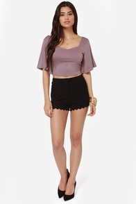 Confidential Cutie Backless Dusty Lavender Crop Top at Lulus.com!