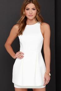 Keepsake Counter Attack Ivory Dress at Lulus.com!