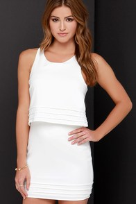 Dee Elle Tier Say Ivory Dress at Lulus.com!