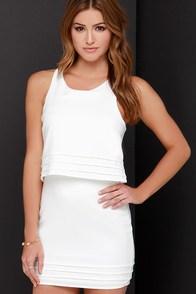 Dee Elle Tier Say Ivory Dress at Lulus.com!