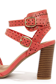 Bamboo Kendria 03 Coral Cutout High Heels at Lulus.com!