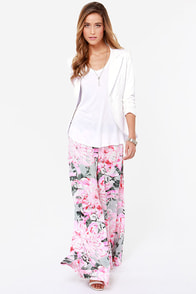 BB Dakota Sundra Pink Floral Print Palazzo Pants at Lulus.com!
