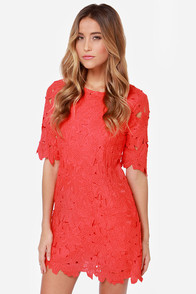 Lacy Luck Red Lace Dress