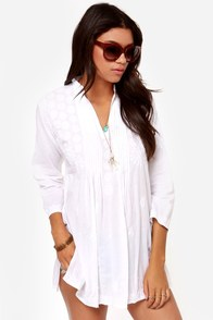 Sweet Serenity Ivory Tunic Top at Lulus.com!