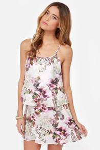 Ladakh Flutter By Floral Print Dress at Lulus.com!