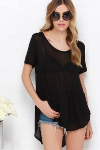 Moving Milestones Black Tee at Lulus.com!