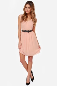 A Thing Called Love Peach Dress at Lulus.com!
