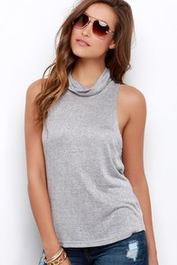 The Fifth Label Jupiter Sunshine Grey Sleeveless Top at Lulus.com!