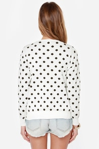 Dot in the Middle Ivory Polka Dot Cardigan Sweater at Lulus.com!