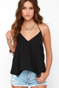 Discotheque Black Sleeveless Bodysuit at Lulus.com!