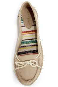 Bamboo Saturday 01 Natural Canvas Deck Shoe Flats at Lulus.com!