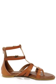 Bamboo Cope 26 Chestnut Gladiator Thong Sandals at Lulus.com!